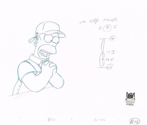 Homer Simpson wearing hat