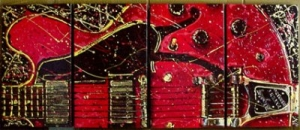 Guitar Red -canvas