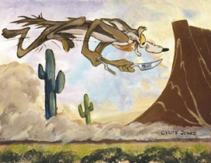 Desert Duo - Wile E. Coyote - canvas