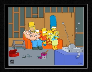 Couch Gag: Family with Pig