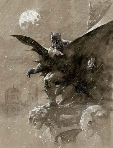 Batman Over San Prospero - Canvas