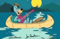 Huck in a Canoe