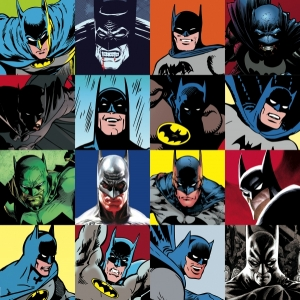 The Faces of Batman Canvas