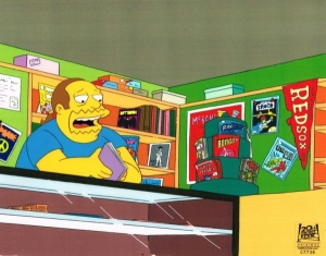 Comic Book Guy in Store