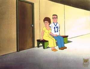 Hank and Peggy Hill sit