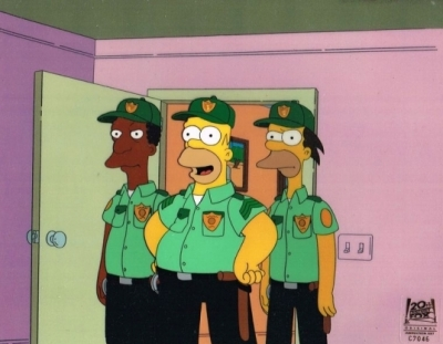 Homer, Lenny and Carl