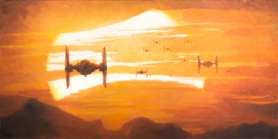 TIE Fighter Sunset (Canvas)