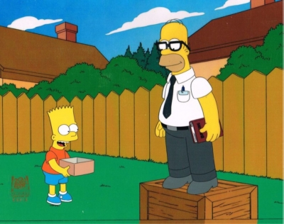 Homer Simpson and Bart Smart Glasses