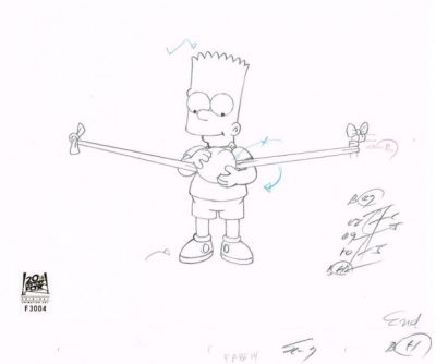 Bart Simpson with balloon 2