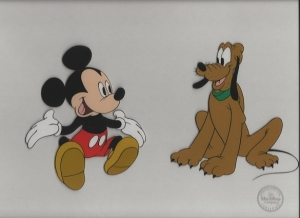 Mickey Mouse and Pluto Mr. Mouse