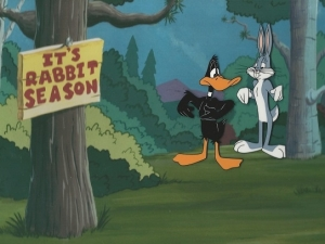 Bugs Bunny and Daffy Duck Rabbit Season