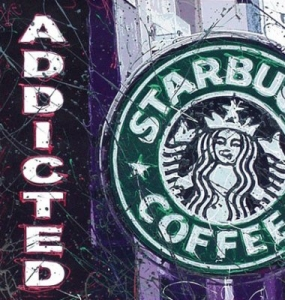 Starbucks Addicted -canvas