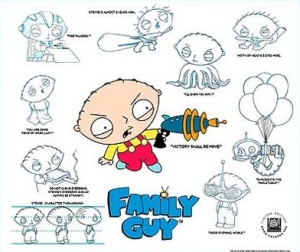 Family Guy Animation Connection Cartoon Art Cels Cells