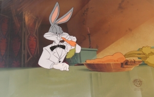Bugs Bunny with carrot