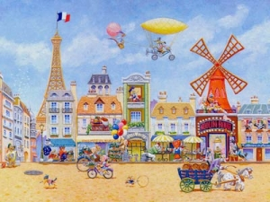 Paris En Avril - Canvas