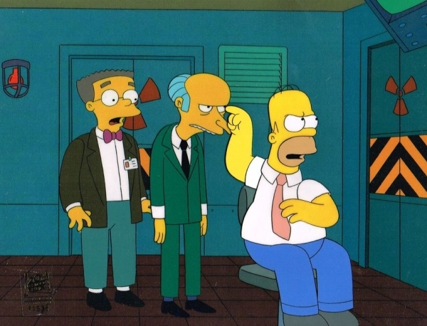 Homer Simpson With Mr Burns And Smithers