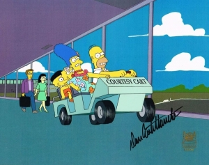 Simpsons Family in car