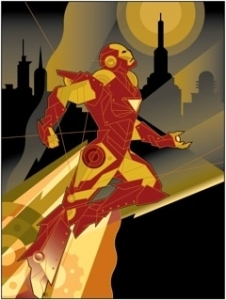 Iron Man Takes Flight - Canvas