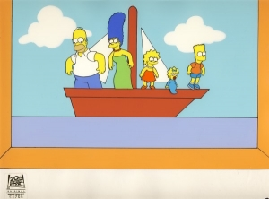Family on boat - Couch Gag