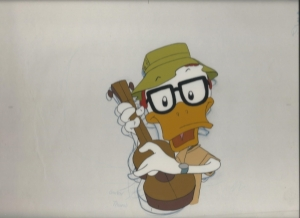 Duck with guitar