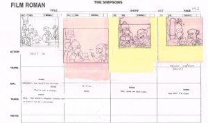 The Simpsons Storyboard Family