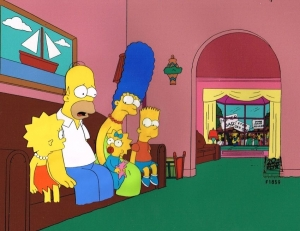 Simpsons Family on couch