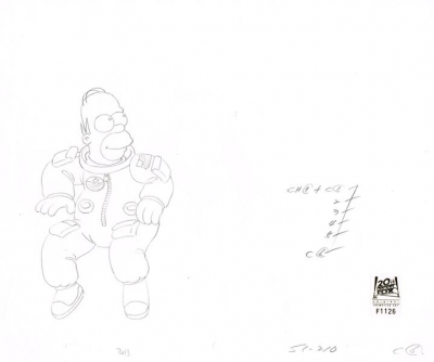 Homer Simpson in Space Suit