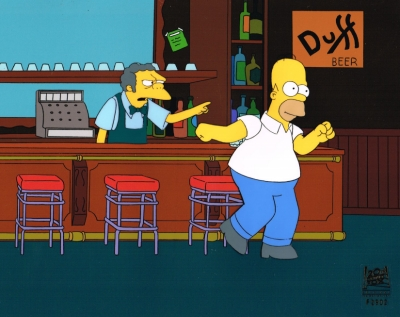Homer and Moe in the Bar