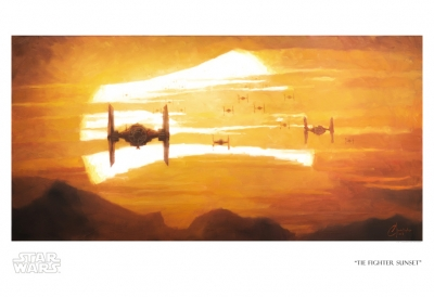 TIE Fighter Sunset (Paper)