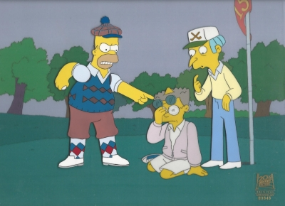Homer Simpson Golf with Mr. Burns and Smithers