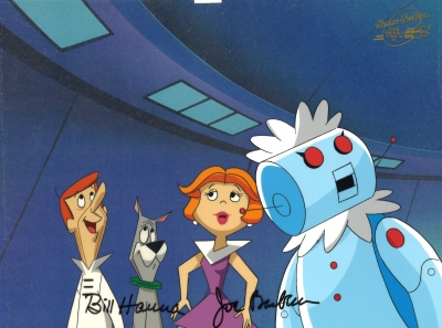 George Jetson with Jane, Rosie and Astro