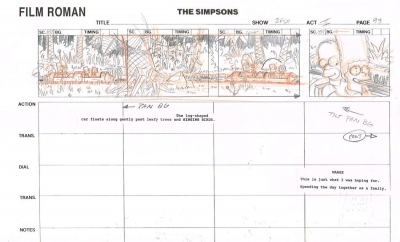 The Simpsons Storyboard 4880