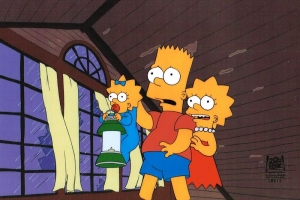 Bart Simpson, Lisa and Maggie